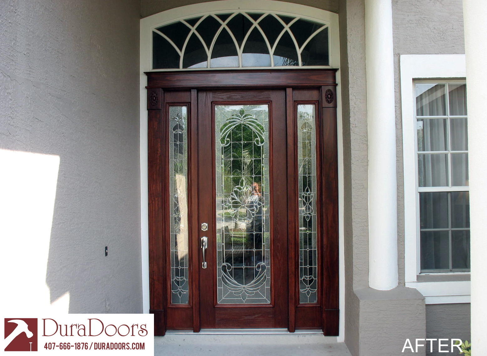 Single Door With Odl Expressions Glass Duradoors