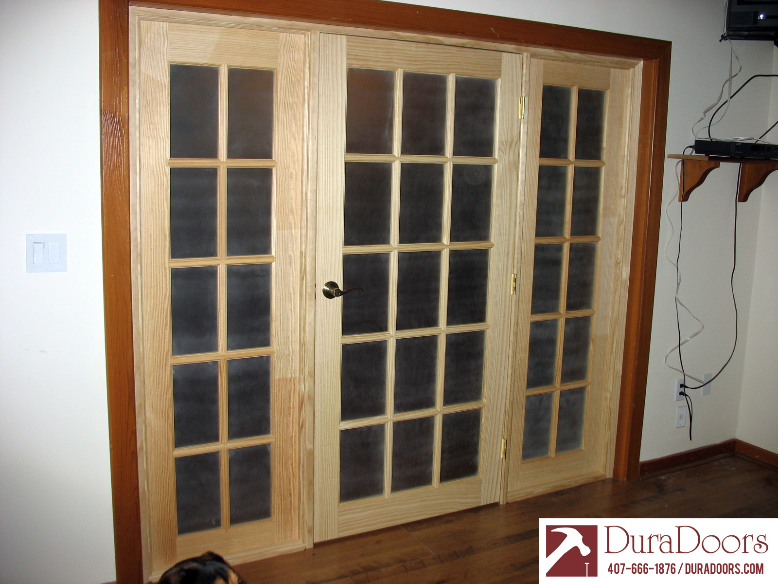 Custom interior french doors duradoors for Custom transom