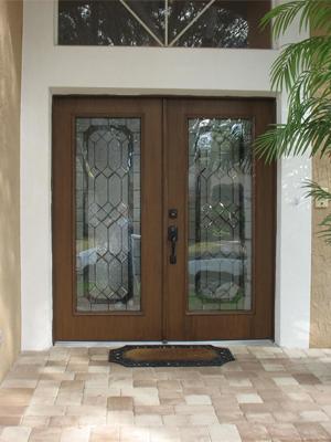 Woodgrain Plastpro Doors With Odl Majestic Glass Duradoors