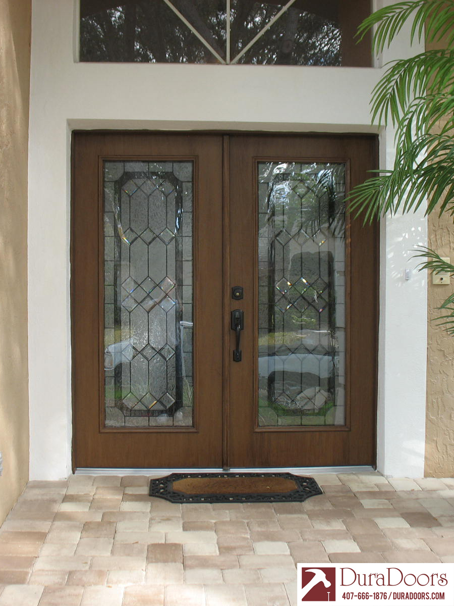 Woodgrain Plastpro Doors With Odl Majestic Glass Duradoors
