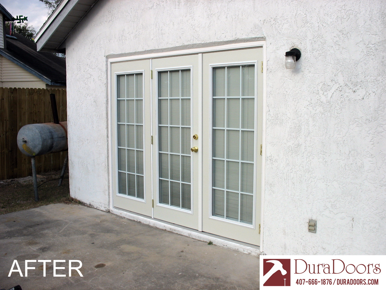 This Customer In Winter Garden, FL, Asked Us To Get Rid Of Their Old  Sliding Glass Doors And Wanted A New 15 Light French Door Unit.