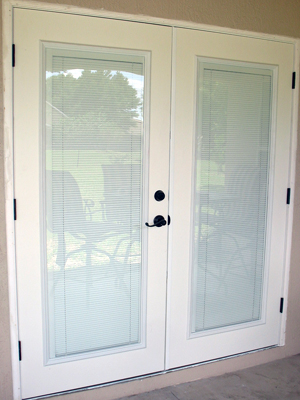 Plastpro French Doors With ODL Enclosed Blinds