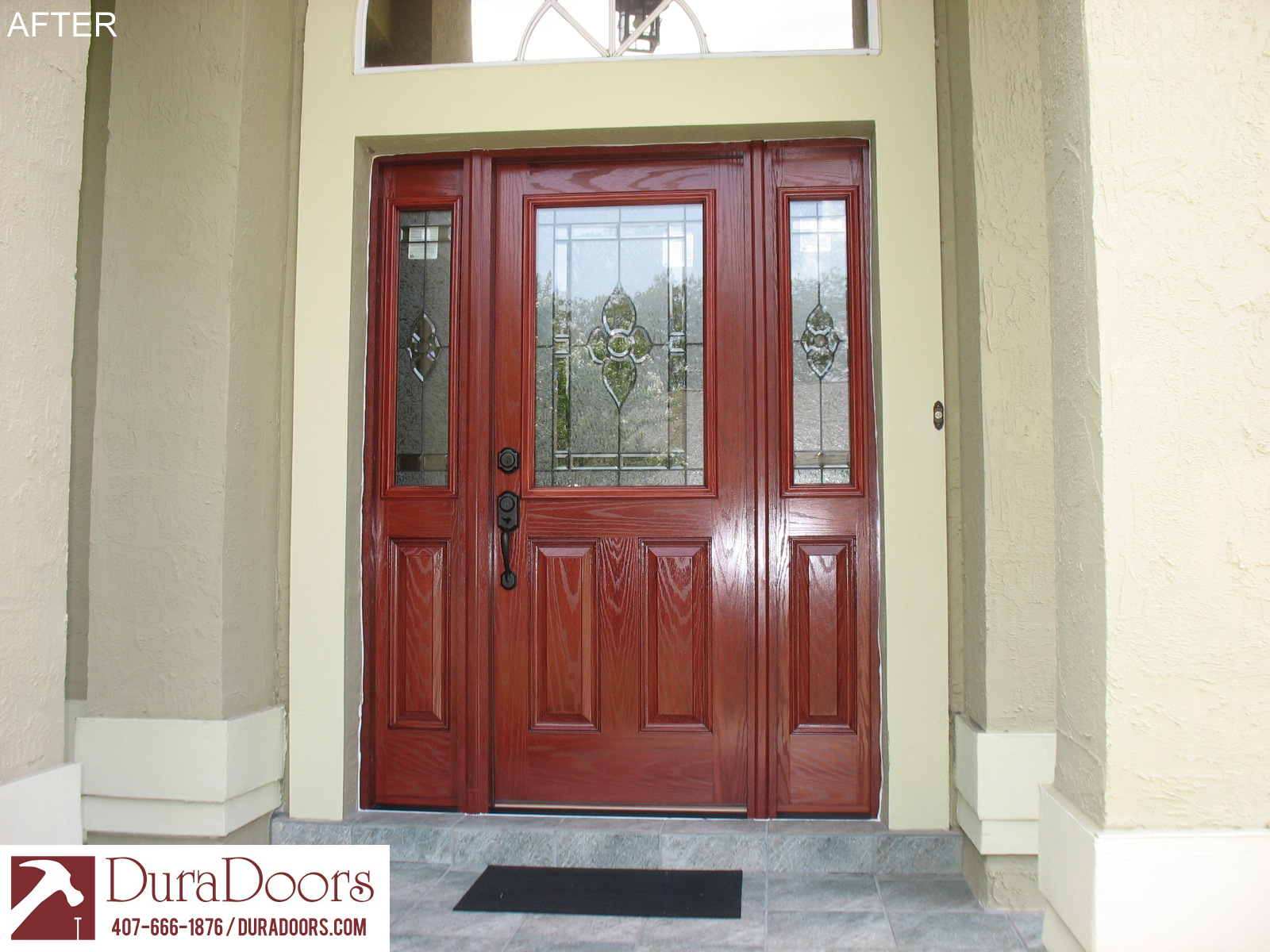 Wonderful This Oviedo, FL, Customer Wanted To Change Her Front Entrance From Double  Doors To A Single With Sidelights. She Chose A Woodgrain Plastpro Door And  ...