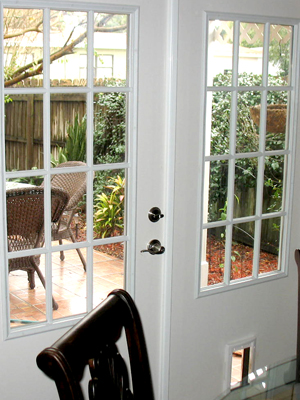 12 Lite French Door With Pet Door Duradoors