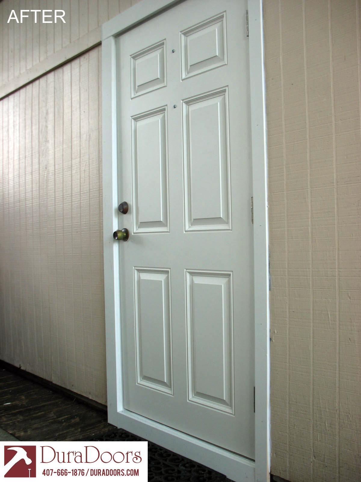 Plastpro 6 panel fiberglass door duradoors for Fiberglass entry doors
