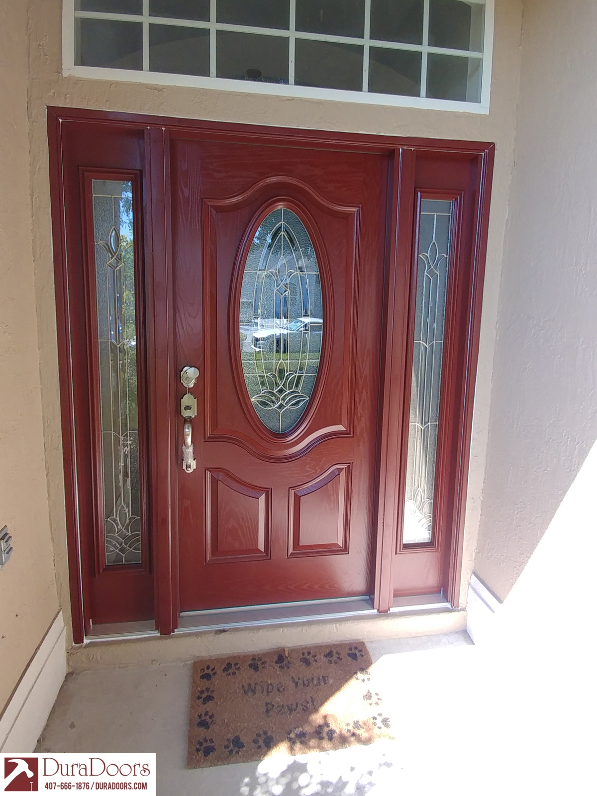 Mahogany Finish With Bristol Oval Duradoors